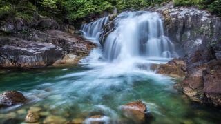 Lower Falls at Golden Creek Falls in British Columbia
