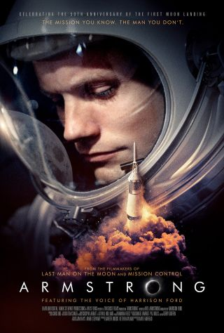 "Movie poster for ""Armstrong,"" the new documentary about the first man to walk on the moon, Neil Armstrong."