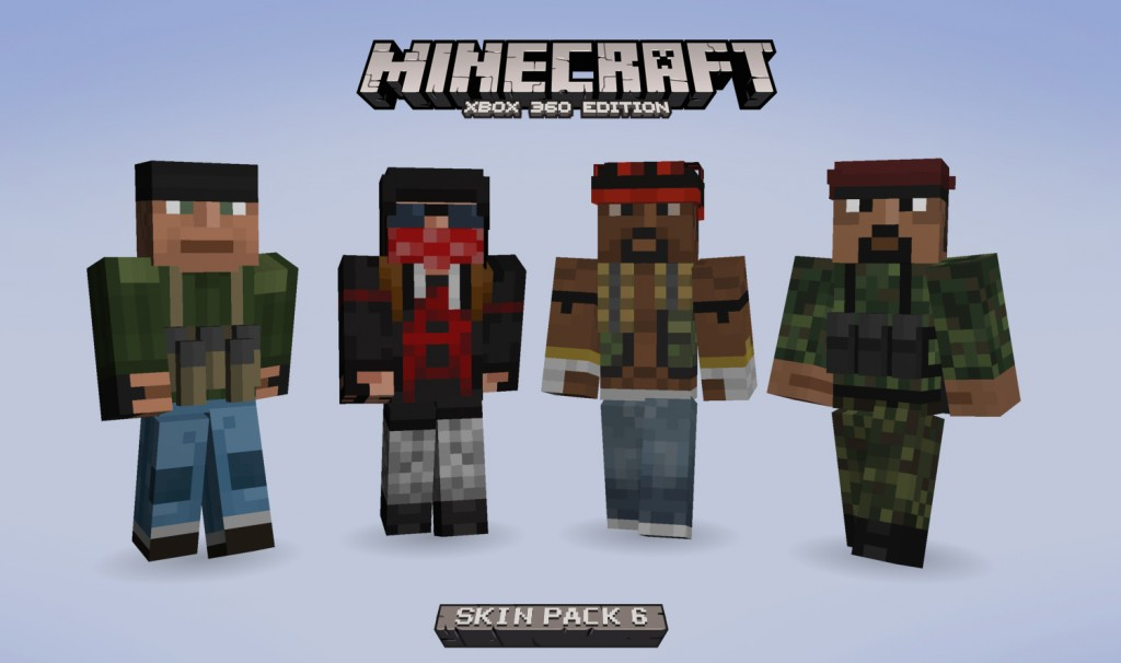 Minecraft Skin Pack 6 Released On Xbox 360