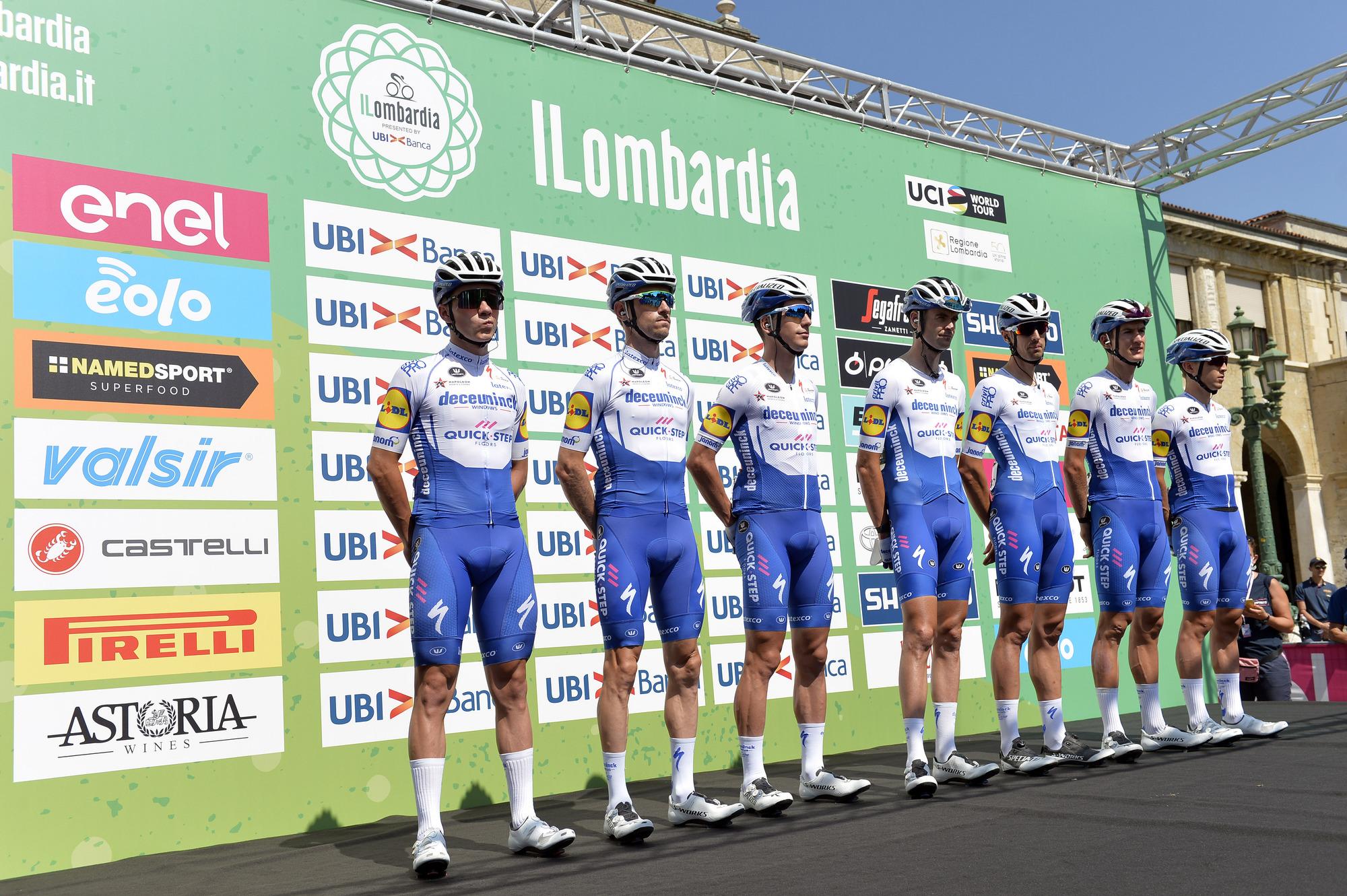 Remco Evenepoel leads Deceuninck-QuickStep at Il Lombardia