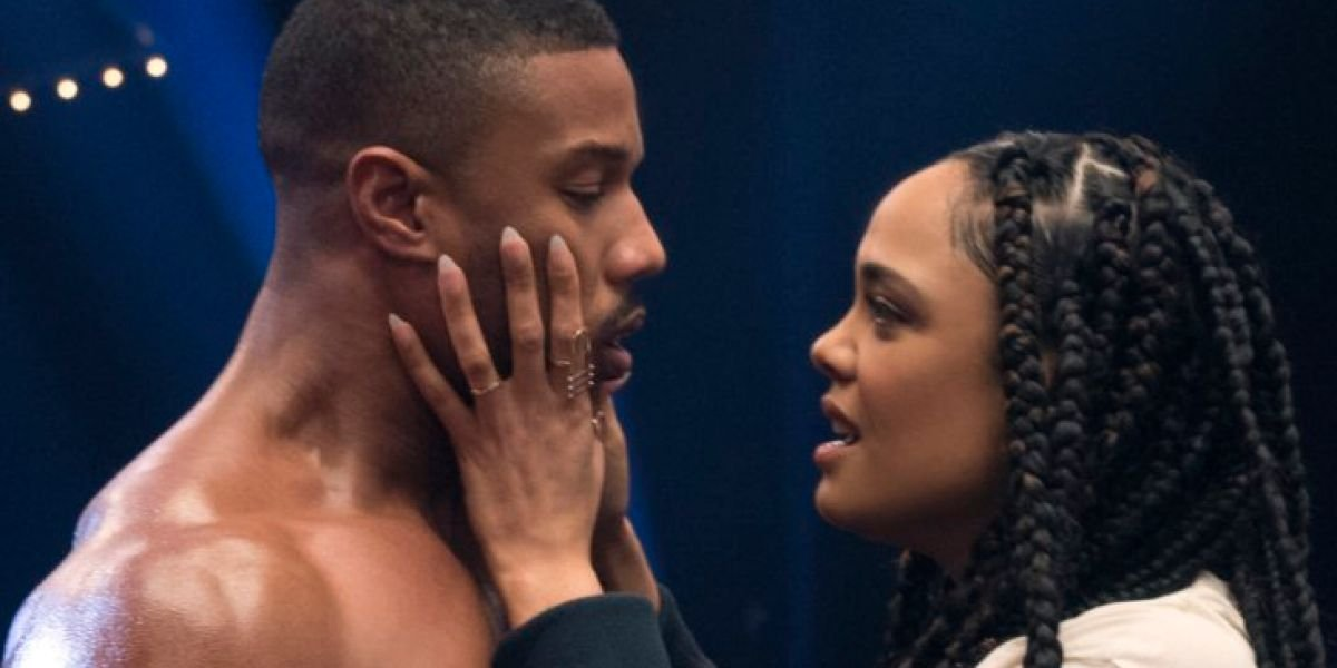 Michael B. Jordan and Tessa Thompson in Creed 2