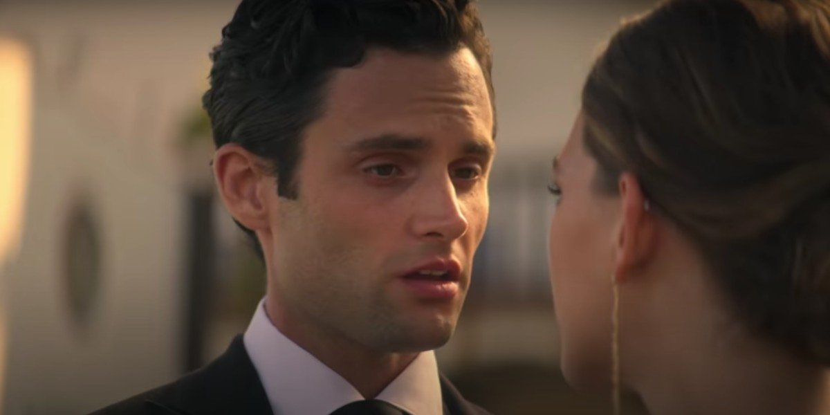 Penn Badgley and Victoria Pedretti in You Season 2
