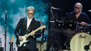 Eric Clapton performing in March 2020
