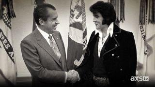 Elvis Presley meeting President Nixon