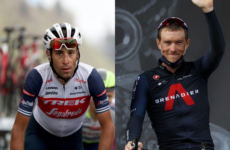 Vincenzo Nibali and Rohan Dennis