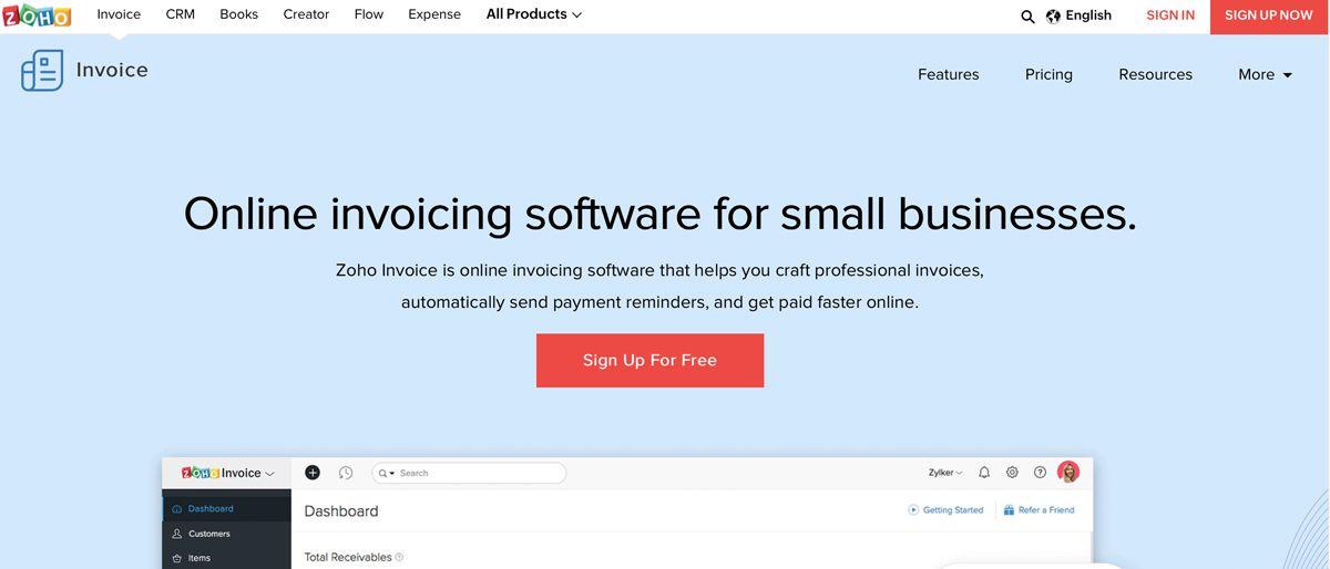 Zoho Invoice Techradar