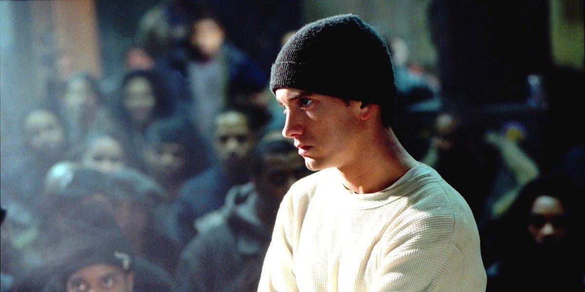 Eminem in a hat