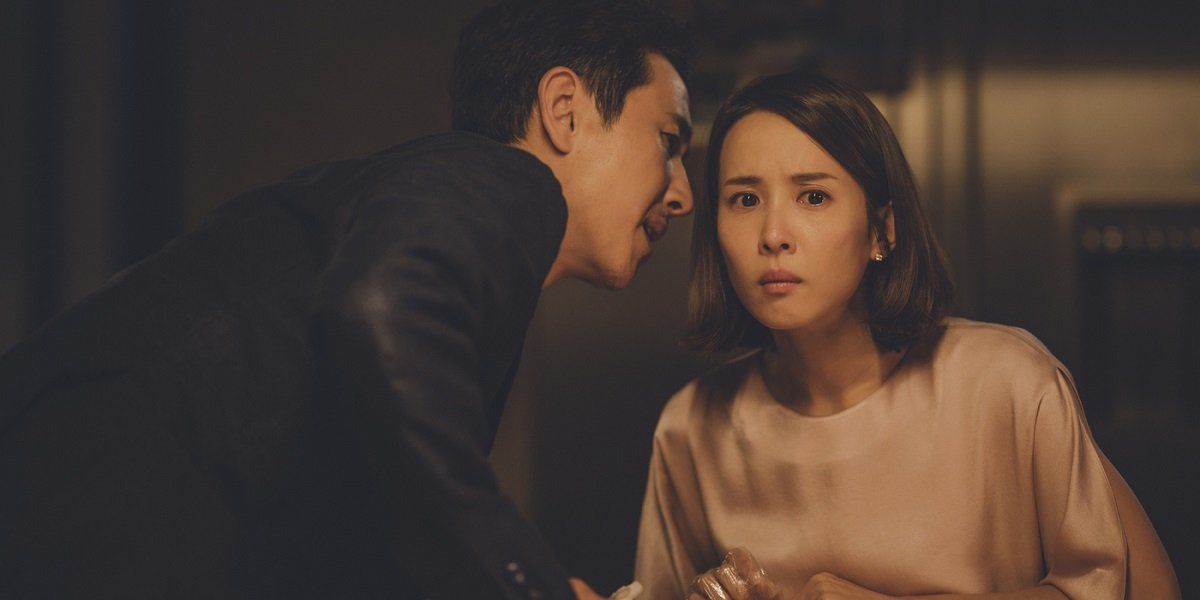 Cho Yeo-jeong and Lee Sun-kyun  in Parasite
