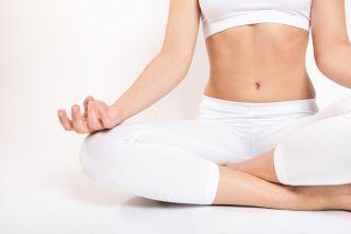 Yoga meditation, meditating, abs
