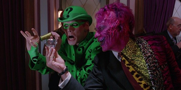Jim Carrey's Riddler and Tommy Lee Jone's Two-Face torment Batman's life... and movie