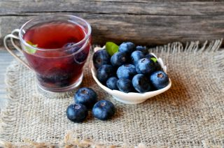 tea, blueberries, antioxidant