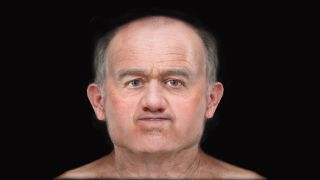 "A digital facial reconstruction reveals the face of ""Skeleton 125,"" or ""SK125,"" a man who lived in medieval Scotland and died when he was about 46 years old."