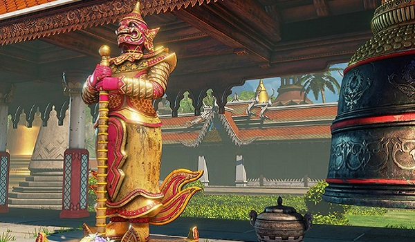 The Thailand Temple level from Street Fighter 5
