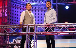Ben Shephard and Chris Kamara hosting the final of Ninja Warrior