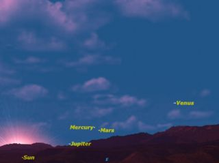 The planets Mercury and Mars will be in close conjunction on the morning of April 19.