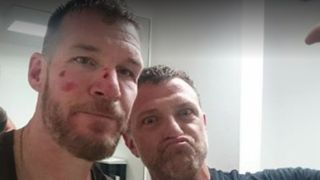 "A picture of Commerford and Wakrat after their ""fight"""