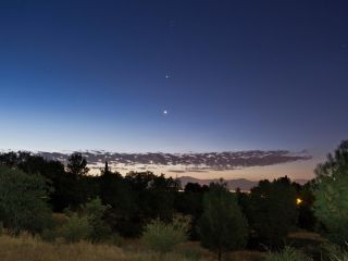 Jupiter and Venus Seen from Redding, CA