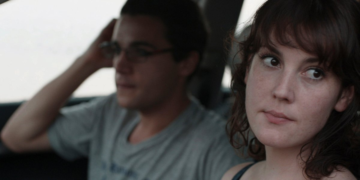 Christopher Abbott and Melanie Lynskey in Hello I Must Be Going