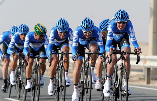 Garmin-Barracuda win, Tour of Qatar 2012, stage two TTT