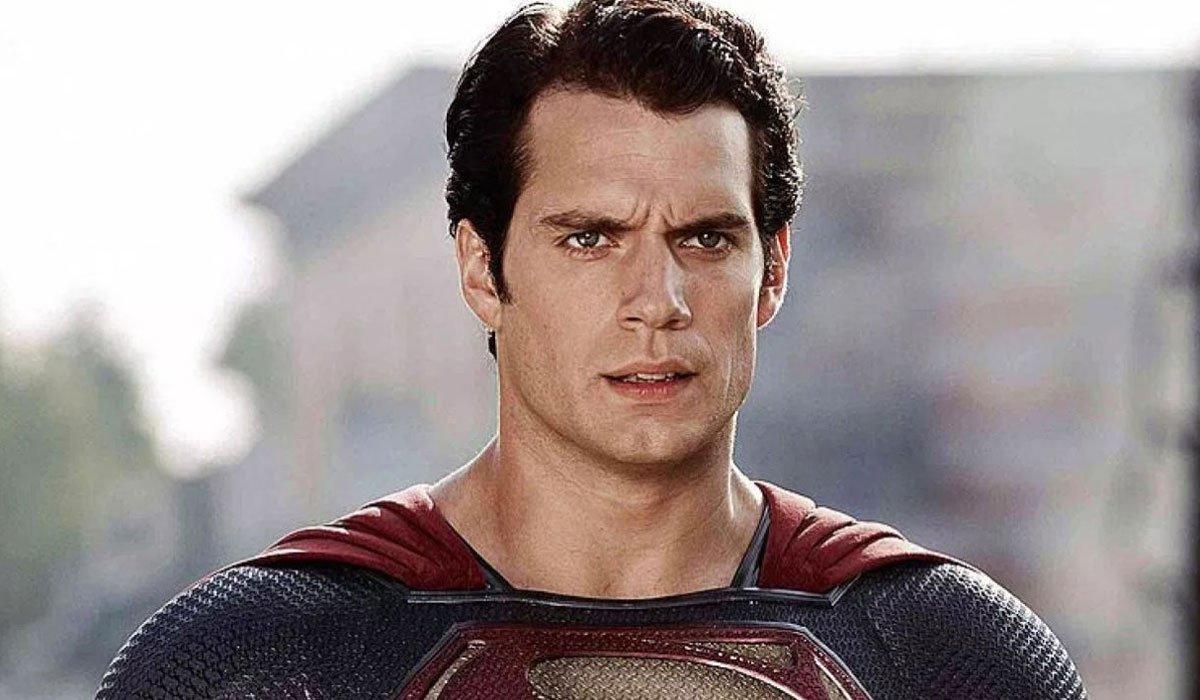 Henry Cavill looking intense as Superman.