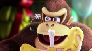 Donkey Kong with a banana cake Nintendo