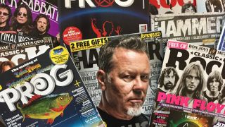 A picture of Metal Hammer, Classic Rock and Prog magazines