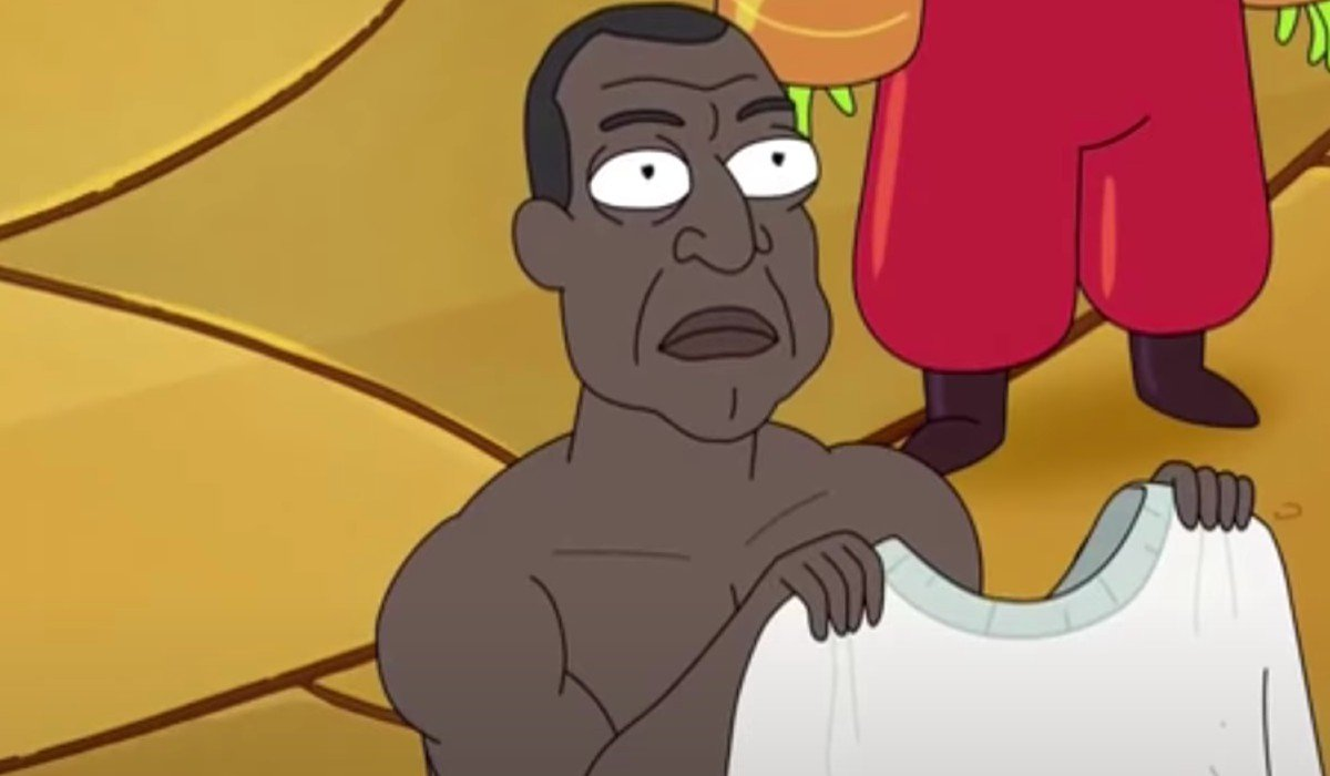 The President on Rick and Morty Adult Swim