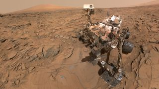 Mars Rover Curiosity at 'Okoruso' Drill Site