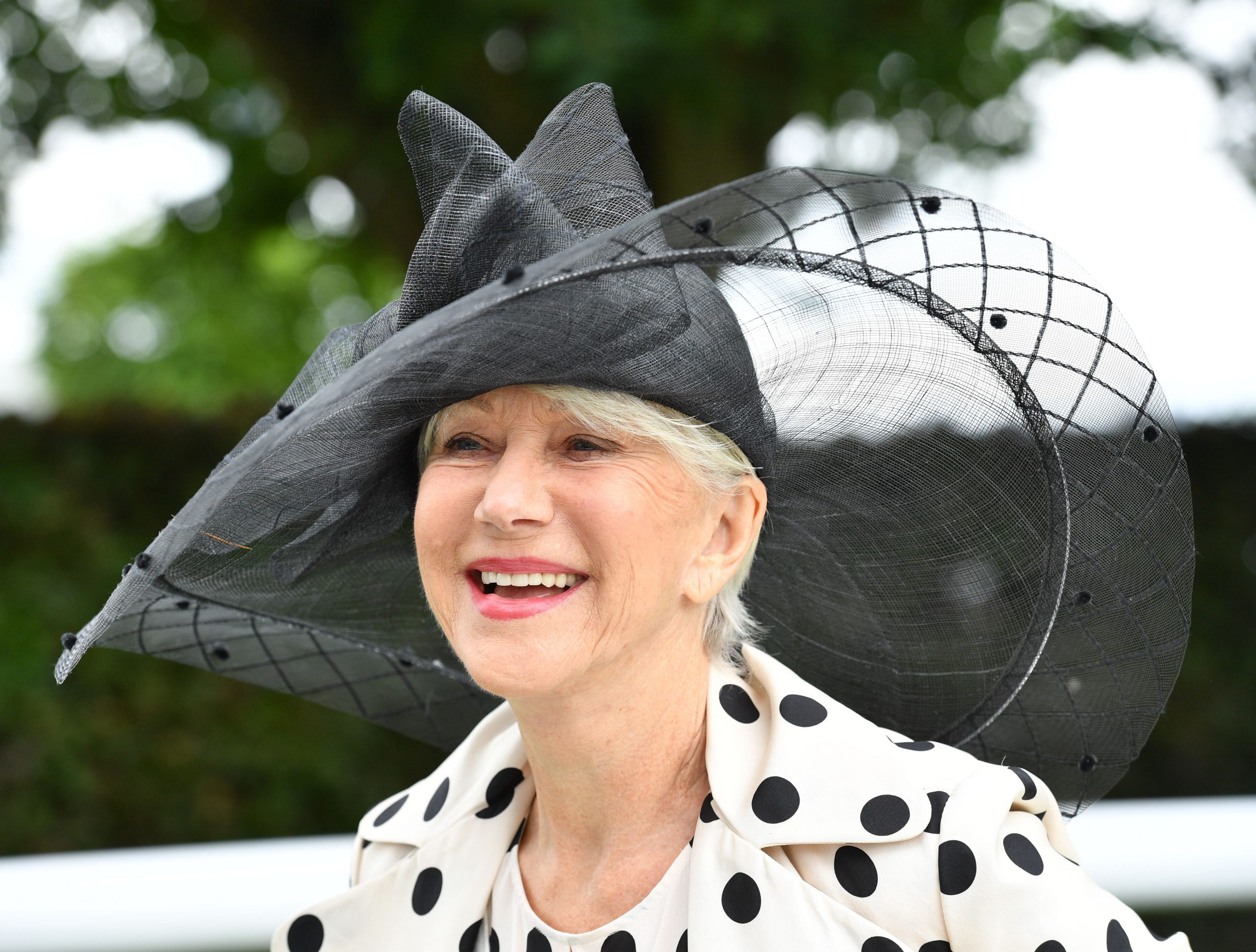 Helen Mirren looking regal at the races