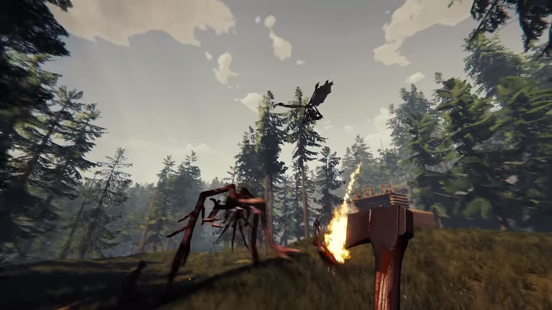 The Forest S Free Update Adds Hang Gliders Crossbows And More Monsters Pc Gamer