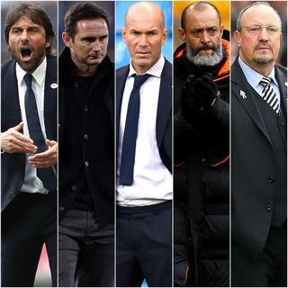Antonio Conte, Frank Lampard, Zinedine Zidane, Nuno Espirito Santo and Rafael Benitez