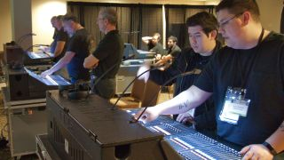 Participants take part in Live Console Hands-On training events in 2019.