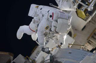 100th space station crew spacewalk