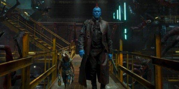 Yondu and Rocket Walk in Ravager Ship