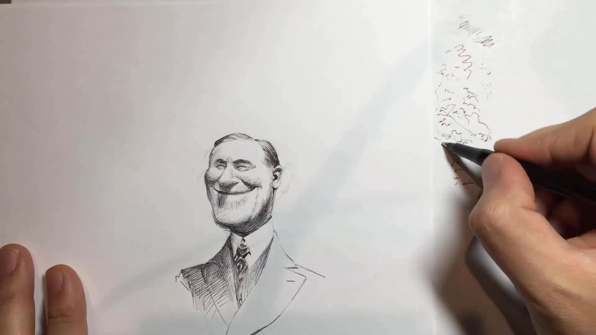 Ink Pen Drawing Ideas Easy