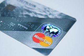 EMV compliant Mastercard close up