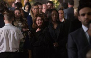 Carmel at the funeral