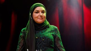 A shot of Sinead O'Connor on stage in 2020