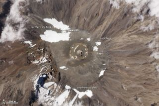 Kilimanjaro glacier split