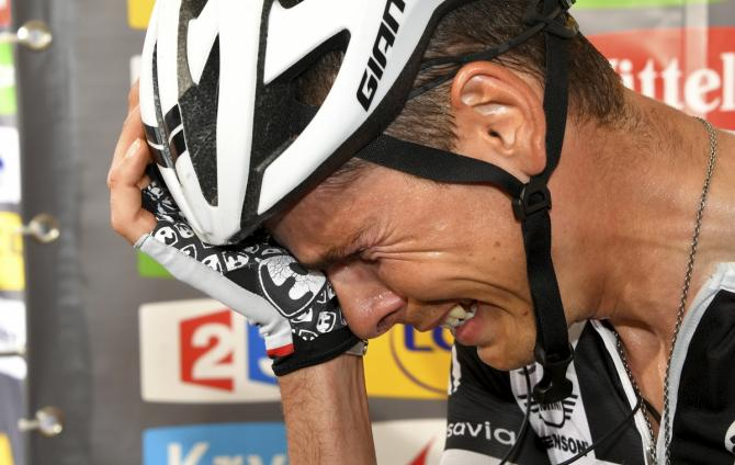 The raw emotion of Warren Barguil after his narrow photo finish loss on stage 9 to Rigoberto Uran