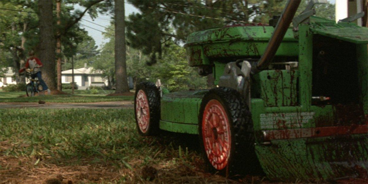 Maximum Overdrive bloody lawnmower