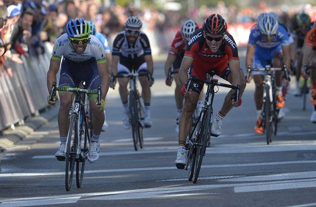 Philippe Gilbert beats Michael Matthews to win the 2014 Brabantse Pijl