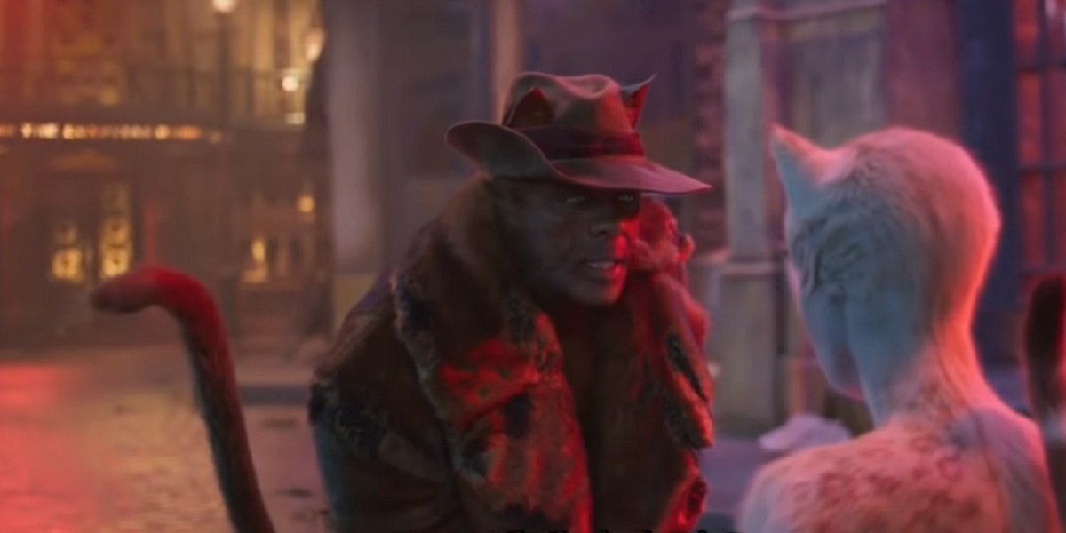 Idris Elba and Francesca Hayward in Cats
