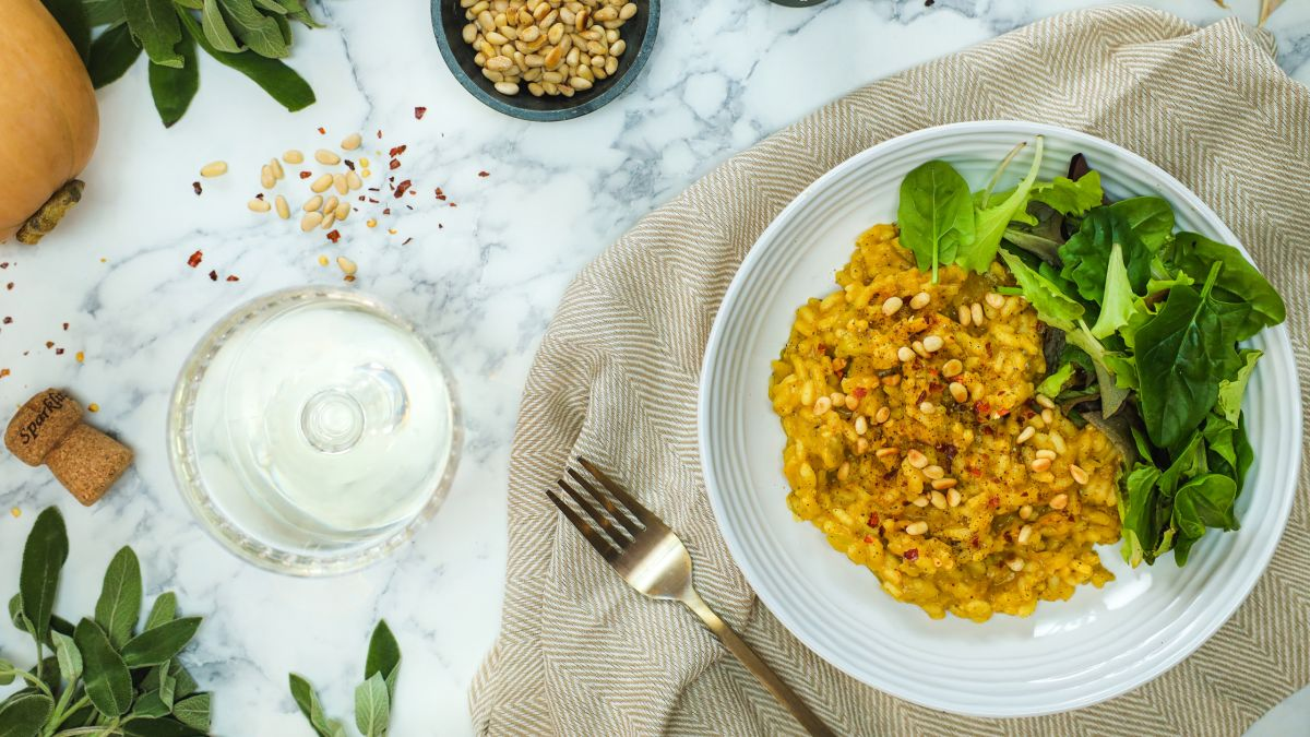 Healthy recipe: This pumpkin risotto from BOSH! is an ideal vegan dinner-for-two