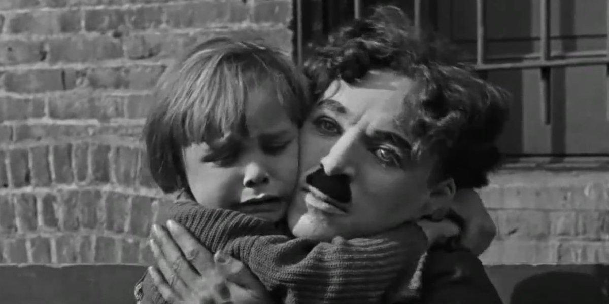 Jackie Coogan and Charlie Chaplin in The Kid