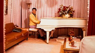 Elvis Presley with the Knabe baby grand piano