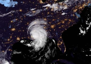 The NASA/NOAA GOES-East satellite captured this photo of Tropical Storm Ida in the early morning hours of Aug. 30.