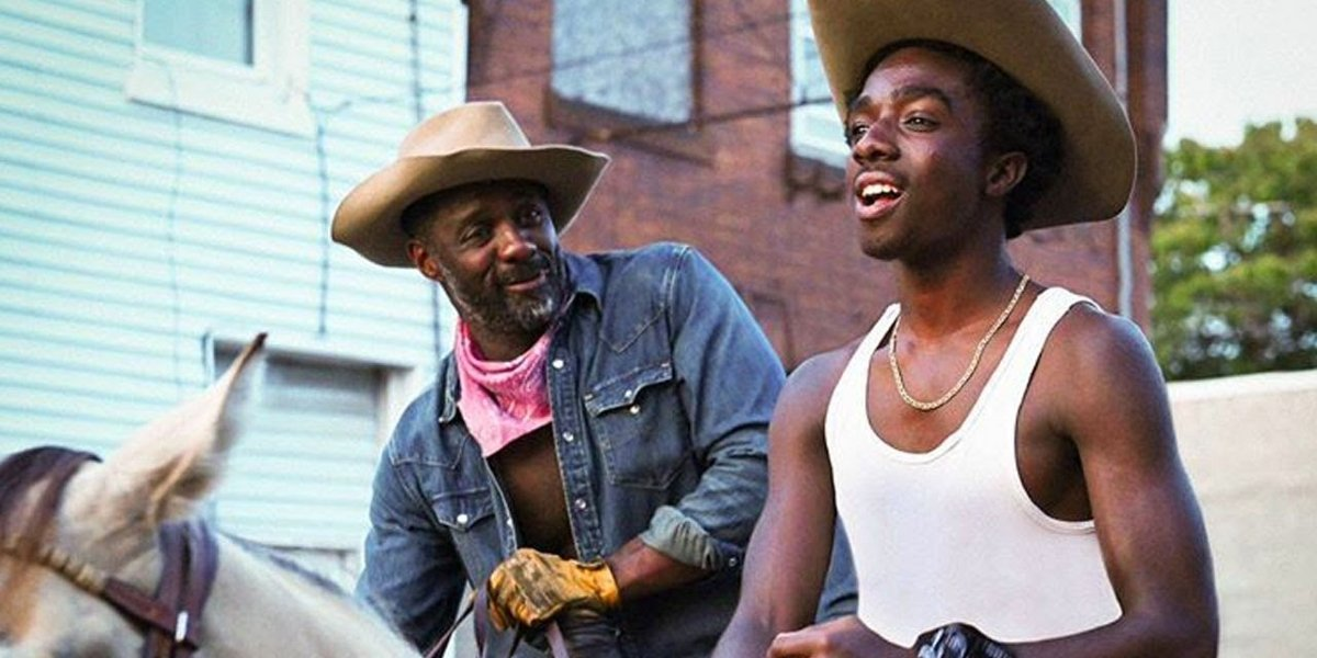 Idris Elba and Caleb McLaughlin in Concrete Cowboy