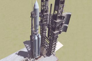 Artist's Concept of Russia's New Angara Rocket