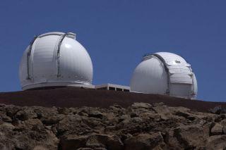Keck Telescopes on Mauna Kea